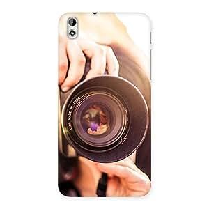 Cute Premier Camera Multicolor Back Case Cover for HTC Desire 816
