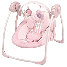 Boppy Rock In Comfort Swing - Pink Torn Stripe