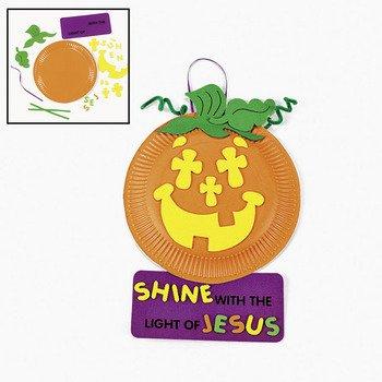 Paper Plate & Foam Christian Pumpkin Craft Kit - Sunday School & Crafts for Kids (Christian Crafts For Kids compare prices)
