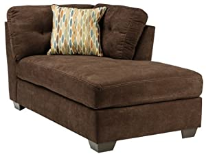 Amazon.com: Ashley Delta City Right Corner Chaise Lounge in Chocolate