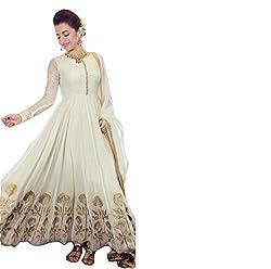 Success fashion Design Women's georgette Semi Stitched Dress Material (georgette_Freesize_white)