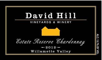 2012 David Hill Estate Reserve Chardonnay, Willamette Valley Oregon 750 Ml