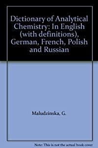 Amazon.com: Dictionary of Analytical Chemistry: In English