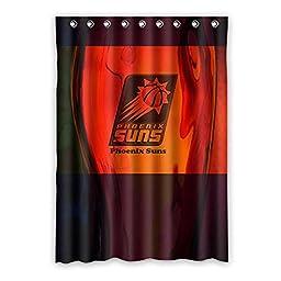 Generic Custom NBA Phoenix Suns Window Curtain Drape/Panel Shading Polyester Fabric 52 Inches x 72 Inches