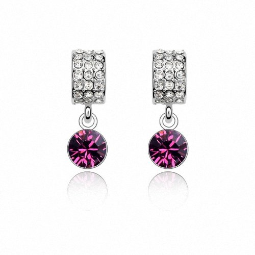 TAOTAOHAS- [ Search Name: Moon Bay ] (1PAIR) Crystallized Swarovski Elements Austria Crystal Earrings, Made of Alloy Plated with 18K True Platinum / White Gold and Czech Rhinestone