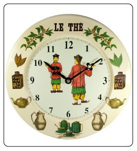 Wall Clock or Kitchen Wall Clock - Decorative Hanging - Tea Theme Design