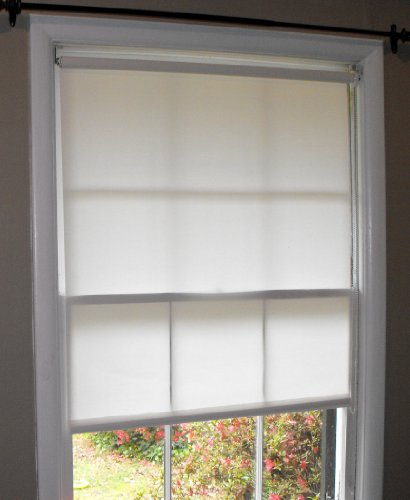Pure White Window Roller Shades, 26 x 72, Free Shipping