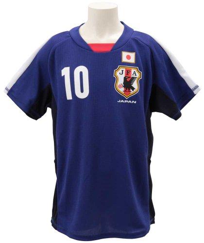 (JLEAY)Jリーグエンタープライズ 日本代表 コンフィットTシャツ JR 香川真司 P61766  ブルー 150