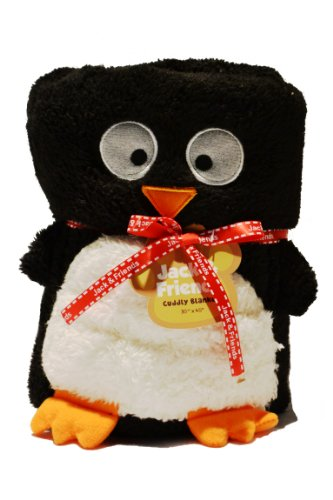 "Jack & Friends Baby/ Toddler Cuddly Blanket (Penguin- 30""X45"")"