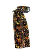 New Company Womens Autumn Butterfly Swirl Scarf - Black - One Size