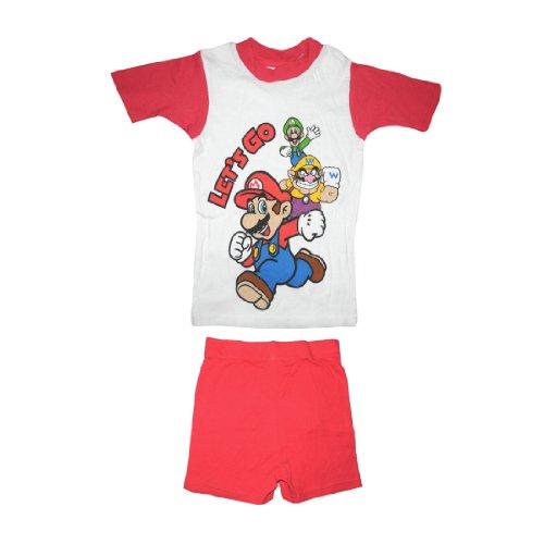 2 PCS SET: Super Mario Boys Or Girls Sleepwear Pajama Short Sleeve Top & Shorts Set