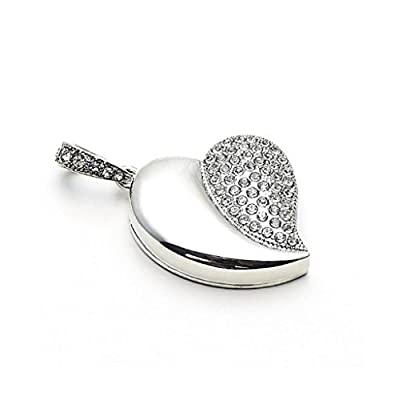 Quace Silver Heart Cool Fancy USB Flash 16 GB Pen Drive