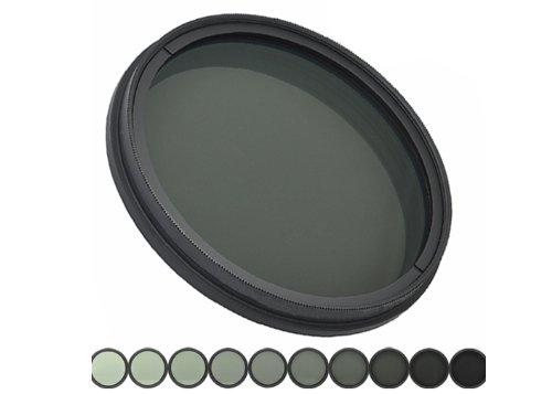 Fotga 67mm Adjustable Neutral Density ND Fader Filter ND2 ND4 ND8 to ND400
