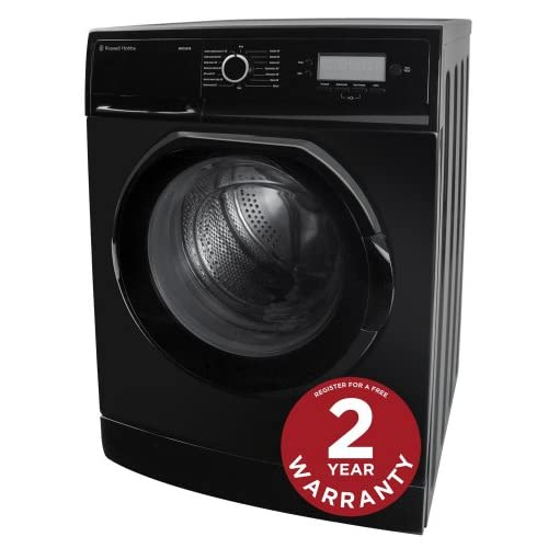 RUSSELL HOBBS RH1250TB 7KG BLACK WASHING MACHINE - Free 2 Year Warranty*