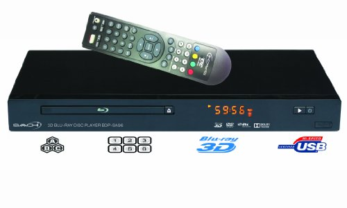 Saachi Bdp-Sa96 - High Quality All Multi Region Zone Code Free 2D/3D Blu Ray Disc Player With Full Hd 1080P Internet Connectivity Plays Pal/Ntsc Dvds 100V-240V Worldwide Use