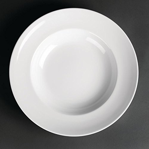 12X Commercial Quality White Pasta Plates 300mm / Restaurant Cafe Pub Bar Dining & Best Deal 12X Commercial Quality White Pasta Plates 300mm ...