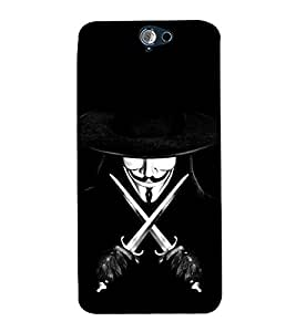99Sublimation Devil with Sword and Hat 3D Hard Polycarbonate Back Case Cover for HTC One A9