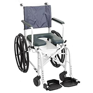 MarinerTM Rehab Shower Commode Wheelchair Seat Size 16 W X