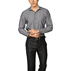 Provogue Men's Casual Shirt (8903522451065_103669-BK-22_Medium_Black)