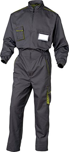 Panoply M6 Panostyle Boilersuit Coveralls-Tuta da lavoro con ginocchiere e tasche multicolore Grey With Green Trim