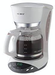 Mr. Coffee DWX20 12-Cup Programmable Coffeemaker, White from Mr. Coffee