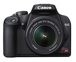 Canon Rebel XS DSLR Camera with EF-S 18-55mm f/3.5-5.6 IS Lens (Black)