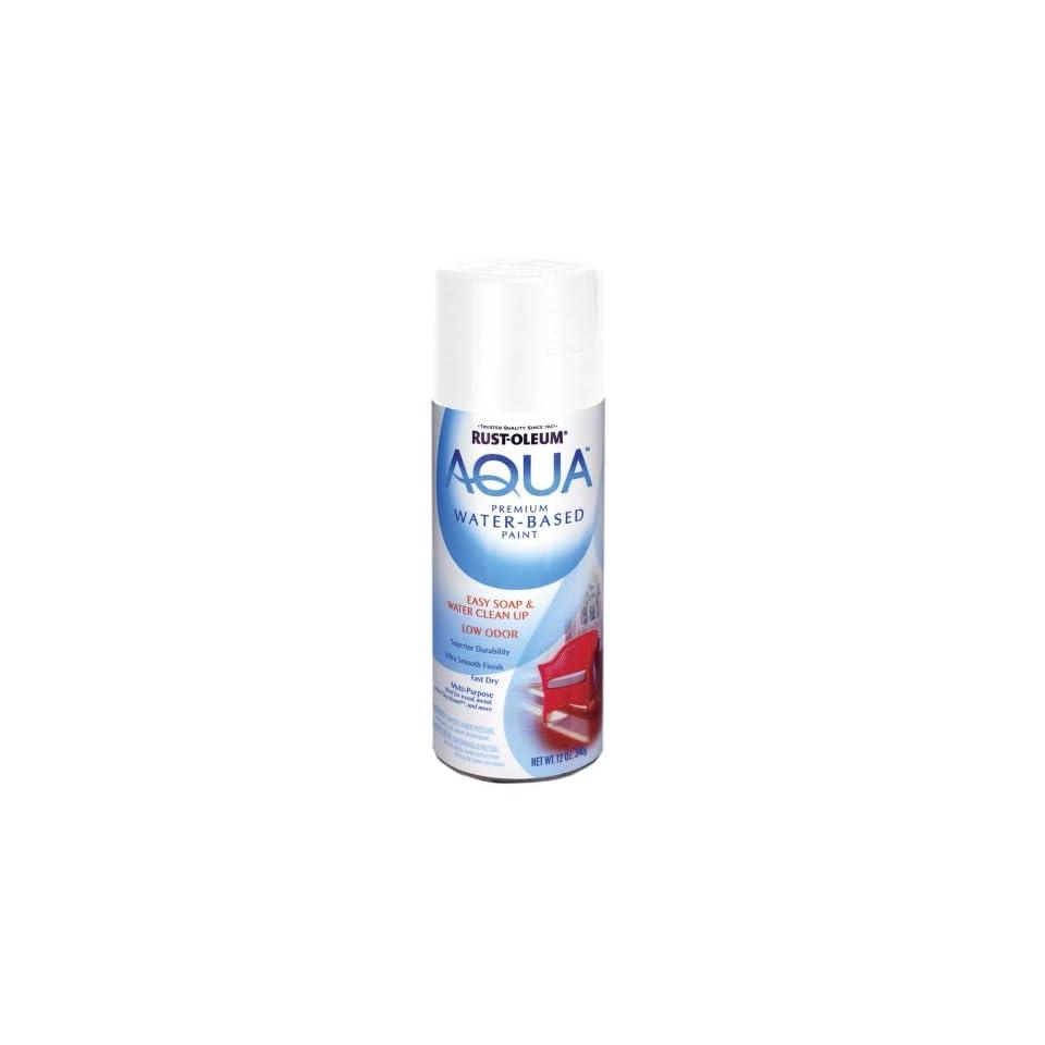 Rust Oleum 223624 Aqua Spray, Glacier White, 12 Ounce