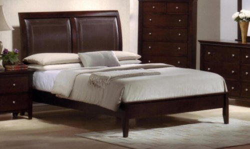 roundhill furniture le charmel wood and bonded leather. Black Bedroom Furniture Sets. Home Design Ideas