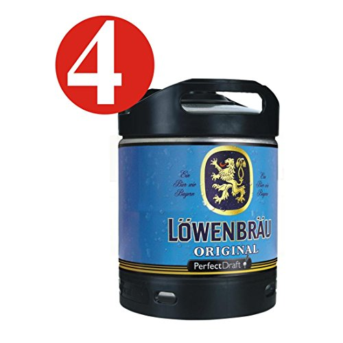 4-x-Lowenbrau-originales-cerveza-Perfect-Draf-6-litros-barril-52-vol