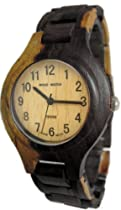 Tense Watch Two Tone Maple & Dark All Wood Mens G7509DM