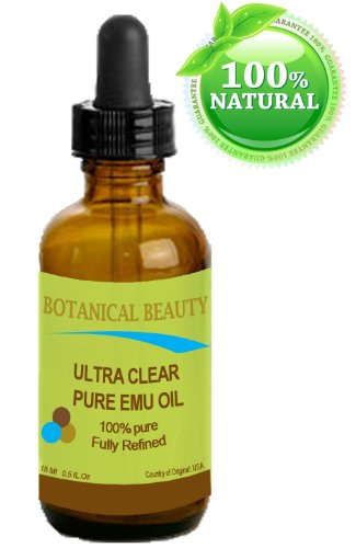 Ultra Clear Pure Emu Oil 100% Pure. 0.5Oz -15Ml. Fully Refined /Golden For Face, Body, Hair, Lips. One Of A Kind Oil For Natural Skin Care.