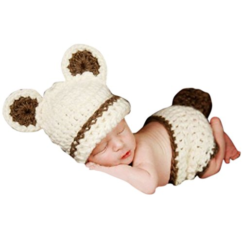 SMARSTAR Baby Infant Cat Knitted Costume Photo Photography Props