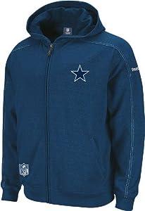 Dallas Cowboys Mens Blockout Full Zip 2nd Season Fleece by Reebok