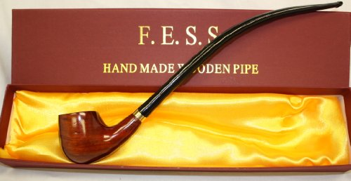 F.e.s.s. Tobacco Smoke Pipe ~ Signature Churchwarden Series 3be3 with Gift Box