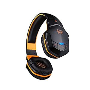 VersionTech EACH B3505 Professional Bluetooth 4.1 3.5mm Audio Output PC Gaming Stereo Noise Canelling Headset Headphone Earphones For Laptop Computer iPhone 6 iPhone 6 Plus 5S 5C 4S Samsung Galaxy S5 S4 Note 4 LG Flex 2 1 Android Smart Cell phone, MP3 Pla