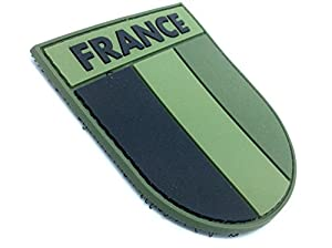 France Subjugué Patch Drapeau Vert PVC Velcro Patch
