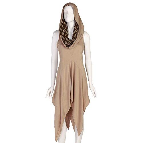 Star Wars Force Awakens Rey Hooded Dress - Sand (Large)