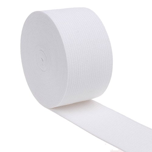 COTOWIN 1.5 Inch Wide White Knit Heavy Stretch High Elasticity Elastic Band 5 Yards (Wide Elastic For Sewing compare prices)