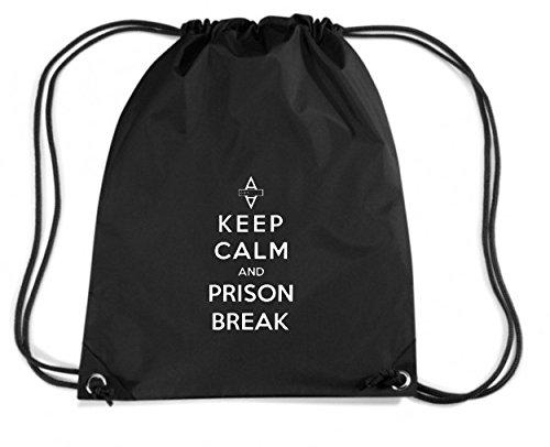 T-Shirtshock - Zaino Zainetto Budget Gymsac WC0430 Keep Calm And Prison Break, Taglia Capacita 11 litri