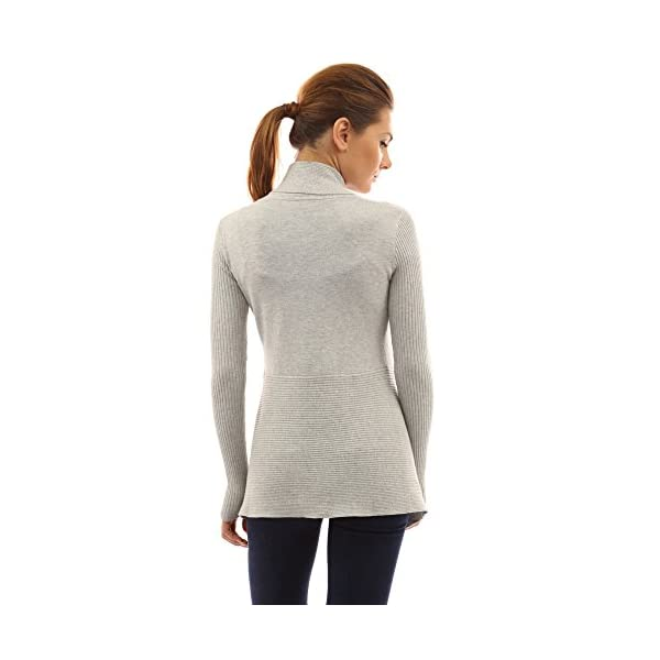 PattyBoutik Women s Ribbed Cascading Open Cardigan - Visuall.co c3d90846e