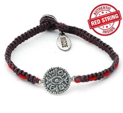 Gate Opening Solomon Seal & Authentic Red String Inside Charm Bracelet for Men