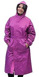 Romano Womens Purple Waterproof Rain Overcoat