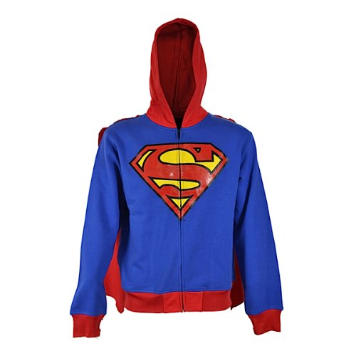 Superman Hoodie SUPER HOOD MEN blue L
