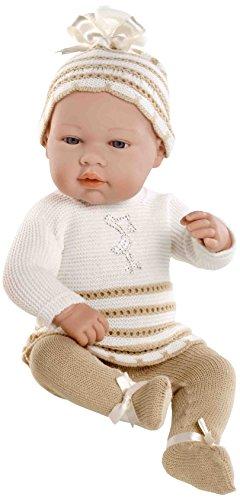 ARIE 42 Elegance Real Baby, Bambola con elementi Swarovski, colore: beige