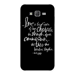 Delighted Quote of Love Multicolor Back Case Cover for Galaxy J7