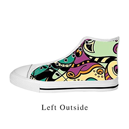 [JIUDUIDODO Fashion Men's Casual Cool Animal Canvas Lace Up High top Shoes Sneakers US11] (Iconic Women In History Costumes)