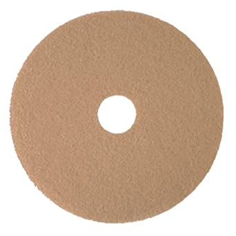 3M Tan Burnish Pad 3400, Floor Care Pad (Case of 5)