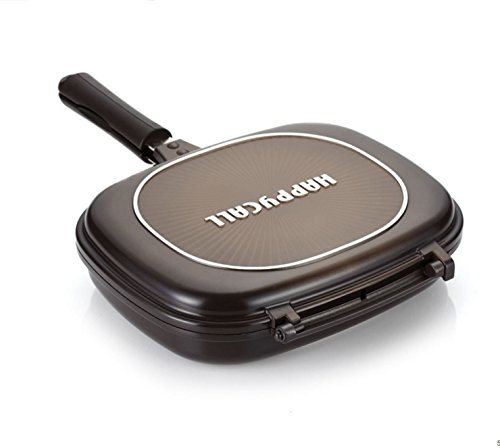 NEW Happycall Double Sided Pan Big Size Jumbo Grill Pressure Frying Pan Diamond (Peter Pan Blu Ray Diamond compare prices)