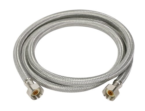 Fluidmaster 4F72CU Faucet Connector, Braided Stainless Steel - 1/2