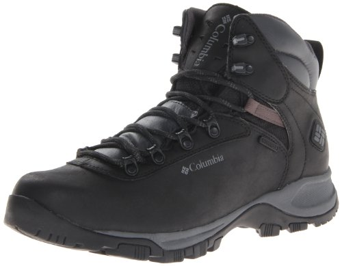 Columbia Men's Mudhawk Waterproof Hiking Boot,Black/Charcoal,9.5